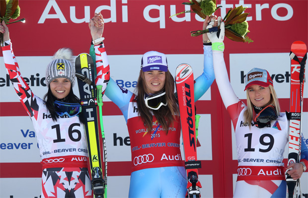© Kraft Foods / Anna Fenninger (AUT), Tina Maze (SLO) and Lara Gut (SUI)