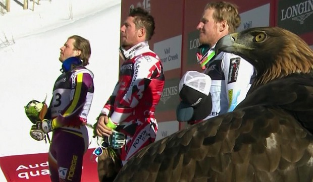 Kjetil Jansrud (NOR), Marcel Hirscher (AUT), Ted Ligety (USA)
