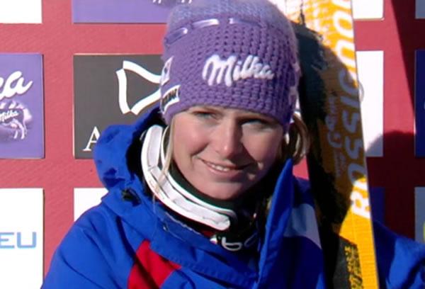 Tessa Worley führt nach dem 1. Durchgang beim Riesenslalom in Soldeu