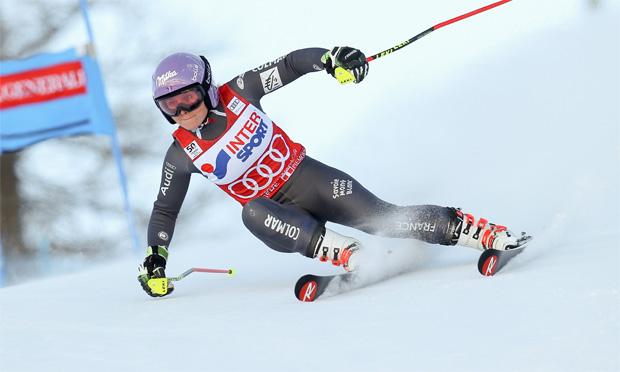 © Kraft Foods / Tessa Worley freut sich über Riesentorlaufsieg in Sestriere