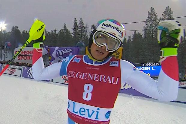 Daniel Yule teilte sich in Levi Platz vier mit Teamkollegen Luca Aerni