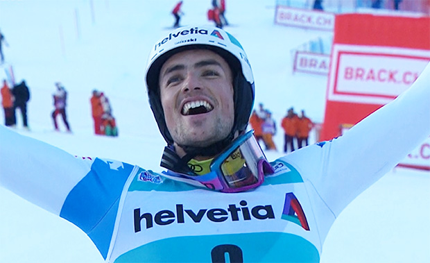 Daniel Yule gewinnt Slalom am Chuenisbärgli in Adelboden