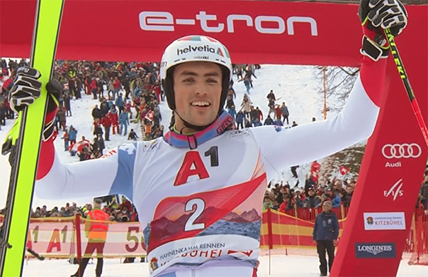 Daniel Yule gewinnt Hahnenkamm-Slalom 2020 in Kitzbühel