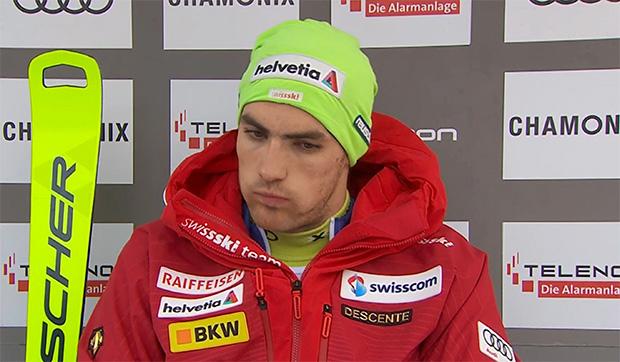 Daniel Yule übernimmt Führung nach dem 1. Durchgang beim Slalom von Chamonix