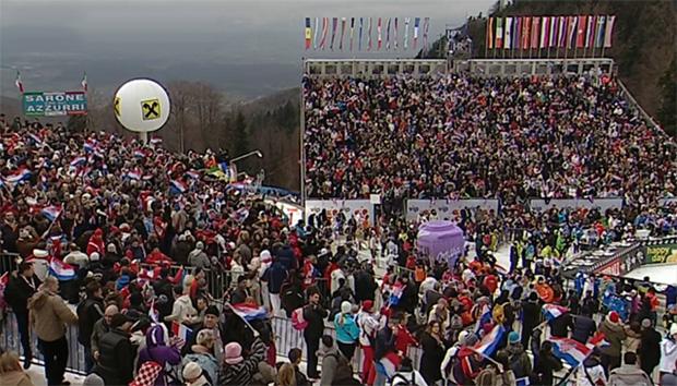 Slalom der Herren in Zagreb
