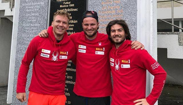 Adam Zampa, Romain Velez und Andreas Zampa (© Adam Zampa / Facebook)
