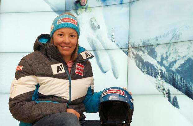 """Lisa-Maria Zeller im Skiweltcup.TV-Interview: """"Nur wer den Glauben nicht verliert, wird sein Ziel erreichen!"""" (Foto: TVB Saalbach)"""