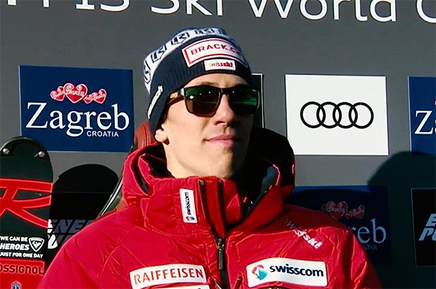 Ramon Zenhäusern übernimmt Führung beim Slalom von Zagreb