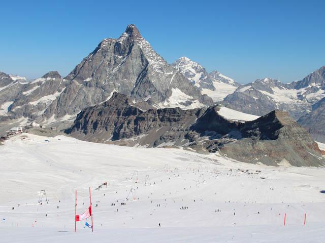 Auf dem Gletscher oberhalb von Zermatt (Foto: Swiss-Ski)
