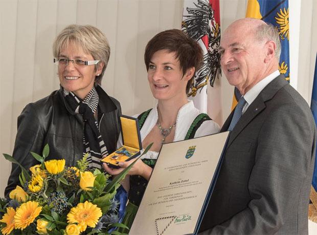 © Karl Frank / Goldenes Ehrenzeichen für Kathrin Zettel