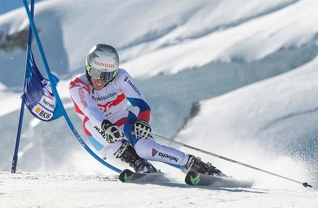 © swiss-ski.ch / Elia Zurbriggen freut sich über EC-Riesenslalomsieg in Jasná