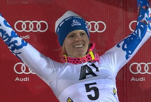Veronika Velez Zuzulova gewinnt Slalom am Zauberberg