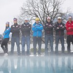 © Tommy Bause / Die PillerseeTaler sind zufrieden mit ihrer Saison: v.l. Hannah Köck, Niklas Köck, Romed Baumann, Manuel Feller, Dominik Landertinger, Fritz Pinter und Markus Bader
