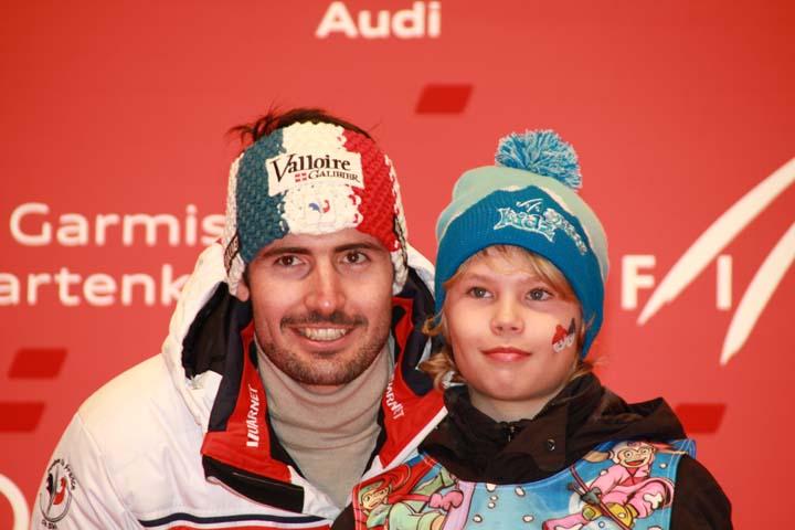Geburtstagskind Jean-Baptiste Grange wieder auf Skiern
