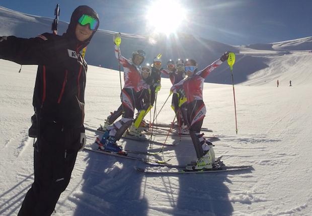Besser hätten es die ÖSV Nachwuchsdamen in Zermatt wohl kaum erwischen können. (Foto: ÖSV)