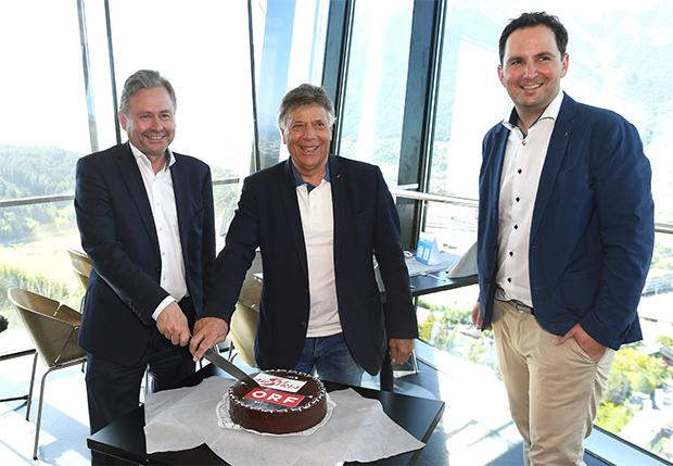 Freuten sich über die Vertragsverlängerung: (v.l.) ORF-Generaldirektor Alexander Wrabetz, ÖSV-Präsident Peter Schröcksnadel und ÖSV-Generalsekretär Christian Scherer (Foto: Erich Spiess)