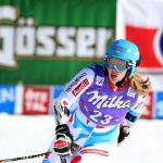 Anne-Sophie Barthet gewinnt Europacup-Riesenslalom der Damen in Andalo