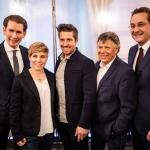 Marcel Hirscher und Nicole Schmidhofer zu Gast bei Bundeskanzler Sebastian Kurz