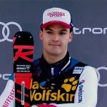 Loic Meillard stürmt bei seiner zweiten Weltcup Kombination aufs Podest