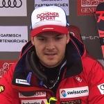 Loic Meillard übernimmt Führung beim Riesenslalom von Garmisch-Partenkirchen