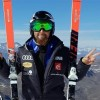 Roy Piccard klettert beim EC-Super-G auf dem Neveasattel auf die höchsten Stufe des Podests