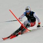 Marc Rochat und Matej Vidovic freuen sich über EC-Siege in den Slaloms von Jaun