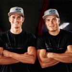 DSV Rennläufer Alexander und Manuel Schmid mit neuem Helmdesign