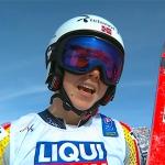 Platz 1 für Kajsa Vickhoff Lie beim ersten Abfahrtstraining im Fassatal