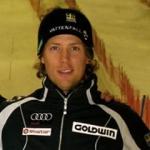 Axel Baeck führt nach dem 1. Durchgang beim Slalom in Kranjska Gora