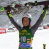 Marta Bassino freut sich über ihren ersten Stockerlplatz
