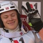 Lucas Braathen liegt nach dem ersten Slalomdurchgang von Kitzbühel in Front