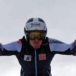 Stefan Brennsteiner freut sich über den Europacup Riesenslalom-Sieg in Kirchberg in Tirol