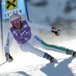 Italienische Ski-Damen in Fanano im Einsatz