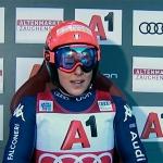 Federica Brignone mit Bestzeit beim Super-G Kombi in Zauchensee.