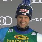 Mauro Caviezel rast beim Super-G von Lake Louise aufs Podium