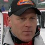 Didier Cuche Schnellster beim Abfahrtstraining in Kitzbühle – Johann Grugger schwer gestürzt.
