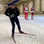 Thomas Dreßen macht auch auf den Langlaufskiern eine gute Figur