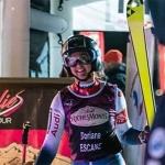 Französin Doriane Escane gewinnt EC-Riesentorlauf in Krvavec