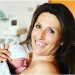 Mutterglück: Nadia Fanchini schenkt dem kleinen Davide das Leben