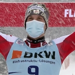 Manuel Feller feiert beim Slalom in Flachau seinen 1. Ski Weltcup Sieg