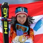 Anna Veith freut sich auf den Super-G in Sotschi