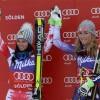 Ex aequo-Sieg für Shiffrin und Fenninger beim Riesenslalom Weltcupauftakt in Sölden