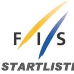 Startliste für den Finaldurchgang beim Slalom der Damen in Levi