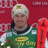 Max Franz und Hannes Reichelt beim Super-G in Lake Louise auf dem Podium