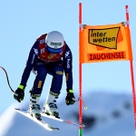 Die Siegerinnen der Zauchensee-Abfahrt heißen Corinne Suter und Verena Gasslitter.