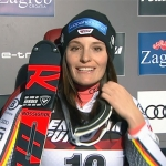 DSV Rennläuferin Tina Geiger rast in Zagreb auf Platz fünf