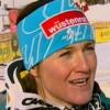 Elisabeth Görgl Dritte in Tarvis-Abfahrt