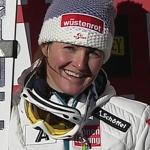 Elisabeth Görgl führt beim Riesenslalom der Damen in Aspen