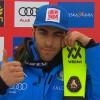 Stefano Gross führt den ersten Lauf im Slalom von Kranjska Gora überlegen an