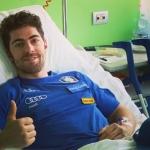 Stefano Gross grüßt alle vom Krankenbett in Brescia